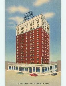 Unused Linen OLD CARS & RUSSEL ERSKINE HOTEL Huntsville Alabama AL u8560