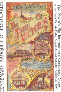The Hotel Victoria Brighton Exhibition Advertising Ltd Postcard