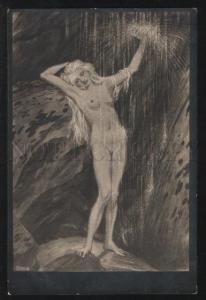 101581 ART NOUVEAU Nude NYMPH Fairy by FIDUS vintage RARE PC