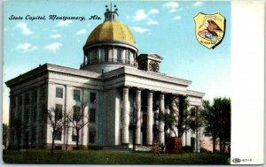 Montgomery, Alabama Postcard State Capitol Building Front View c1910s UNUSED