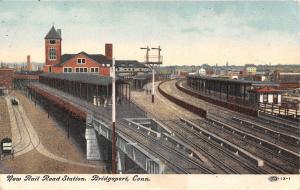 Bridgeport Connecticut~New Rail Road Station~1910 Postcard