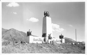 Salt Lake City Utah~This is the Place Monument of Pioneers~Dedicated 1947~RPPC