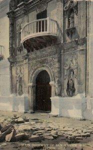SAN XAVIER Mission , Arizona , 1912 ; Main Doorway