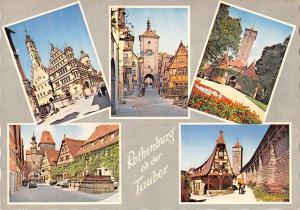 GG12945 Rothenburg ob der Tauber Ploenlein Brunnen Turm Tower Auto Cars