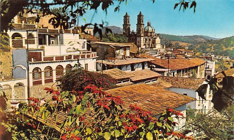 Vista Panoramica Taxco Mexico Tarjeta Postal Writing on back