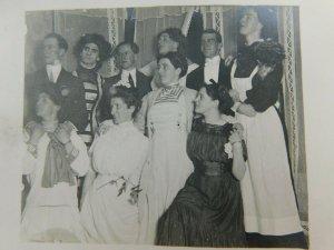 Play Cast Men Dressed As Women Actors Cyko Real Photo Vintage Postcard