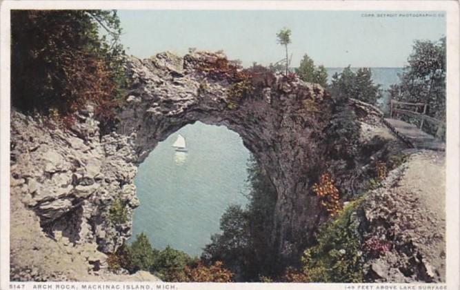 Michigan Mackinac Island Arch Rock Detroit Publishing