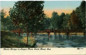 A Rustic Bridge in Leeper Park - South Bend IN, Indiana - DB