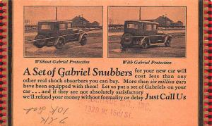 Philadelphia PA H. P. Schade Co. Gabriel Snubbers Shock Absorbers 1928 Postcard