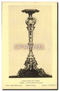 Old Postcard Carved Gilt Wood Louis XIV Statnd Ftance Late period Paris Schoo...