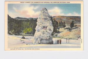 VINTAGE POSTCARD NATIONAL STATE PARK YELLOWSTONE LIBERTY CAP MAMMOTH HOT SPRINGS