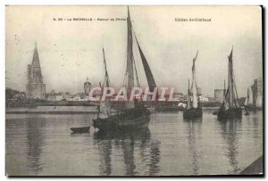 Postcard Old Fishing Boat La Rochelle fishing Back
