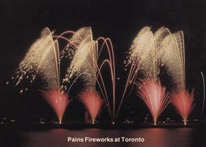 Pains Fireworks Display at Toronto Canadian Limited Edition Postcard