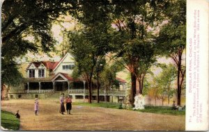 Chicago Illinois~Douglas Park~Kids on Lawn & Drive of Rectory~1908 Postcard