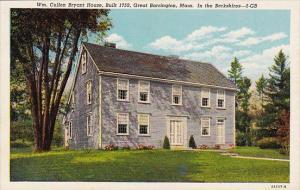 Massachusetts Great Barrington WM cullen Bryant House Built 1759 Great Barrin...