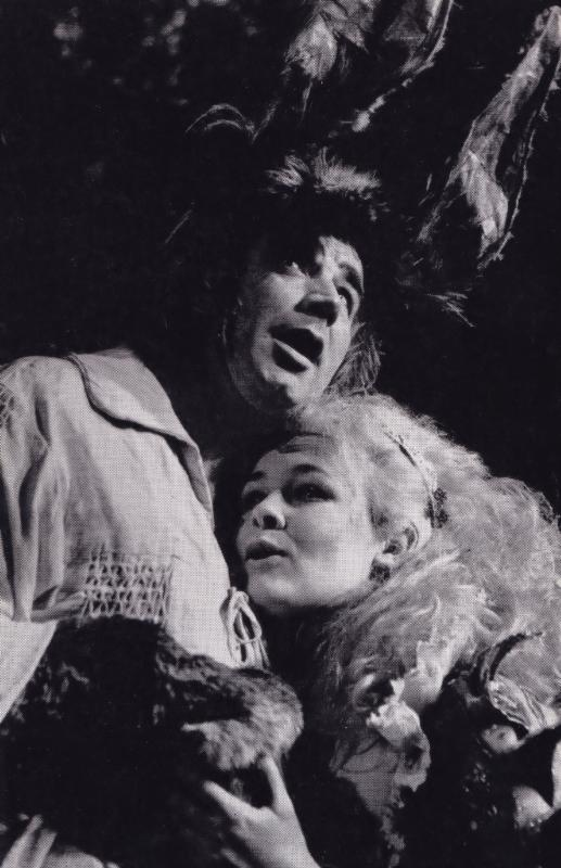 Judi Dench Paul Hardwick Bottom Titania Shakespeare Theatre Postcard