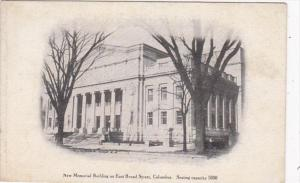 Ohio Columbus New Memorial Building On East Broad Street