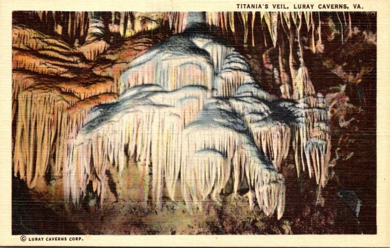 Virginia Caverns Of Luray Titania's Veil