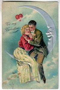 Valentine - Couple Sitting on the Moon