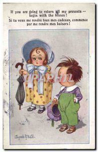 Old Postcard Fantasy Illustrator Donald McGill Children