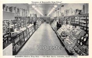 Columbia, SC, USA Postcard Post Card Eckerd's Modern Drug Store