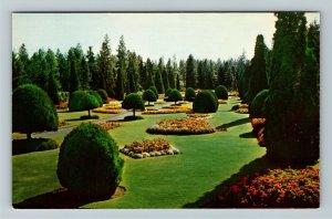 Spokane WA- Washington, Duncan Garden Formal Garden Manitou Park Chrome Postcard