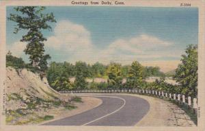 Connecticut Greetings From Derby 1953 Curteich
