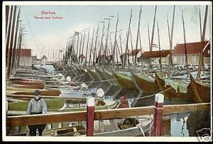 netherlands MARKEN Harbor Fishing Botters Costumes 30s
