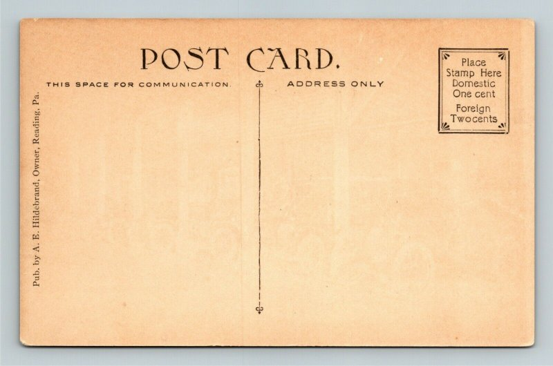 Reading PA-Pennsylvania, City Hotel Garage, Classic Cars, Vintage c1910 Postcard