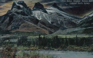 BANFF , Alberta , Canada , 1900-10s ; Three Sisters, Canadian Rockies