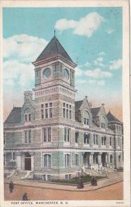 Post Office Manchester New Hampshire 1920 Curteich