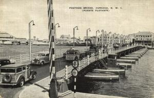 curacao, N.W.I., WILLEMSTAD, Pontoon Bridge, Puente Flotante, Cars (1940s)