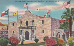 Texas San Antonio The Alamo Under Six Flags Built 1718