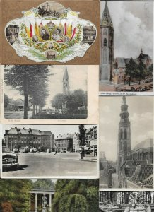 Netherlands Heerhugowaard Roermond and more Postcard Lot of 44 with RPPC 01.09