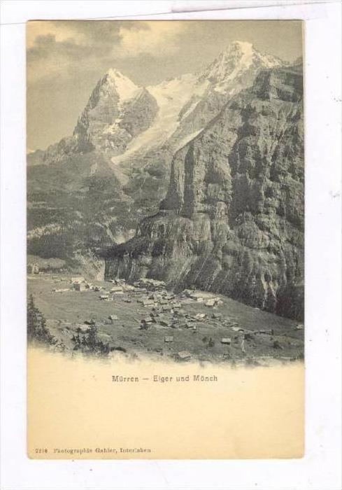Eiger Und Monch, Mürren, Switzerland, 1900-1910s