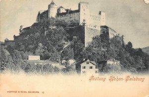 Festung Hohen Salzburg Castle Postcard