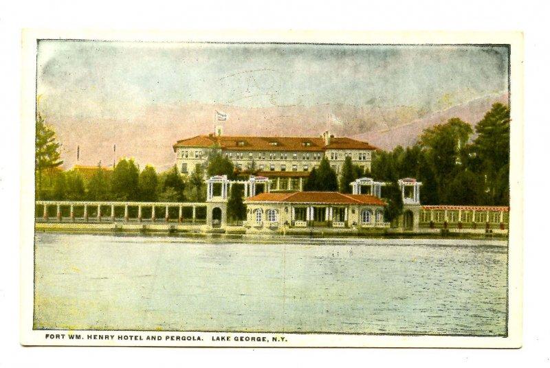 NY - Lake George. Fort William Henry Hotel & Pergola