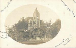 Conservatory of Music Morningside Sioux City Iowa IA 1906 Real Photo