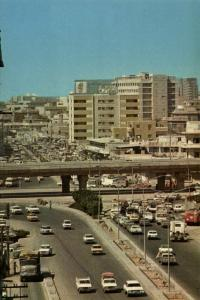 saudi arabia, DJEDDAH JEDDAH, King Khaled Flyover, Cars Truck (1960s)