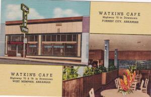 WEST MEMPHIS/FORREST CITY , Arkansas , 30-40s ; Watkins Cafe