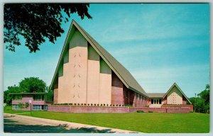 Sioux City Iowa~Shade Over Sidewalk~A-Frame Grace United Methodist Church c1910