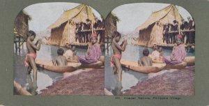SV: Philippines Islands , 1890-10s ; Visayan Natives, Philippine Village