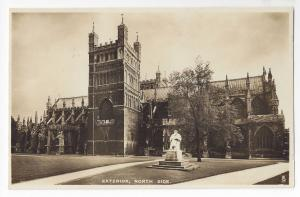 UK England Exeter Cathedral North Side Vntg Tucks Real Photograph Postcard