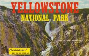 Wyoming Yellowstone National Park Lower Falls From Artist's Point