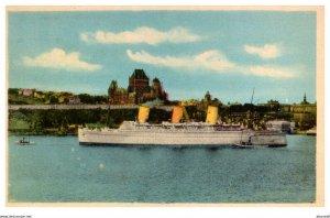 Ocean Liner , ChateauFrontenac Quebec Canada