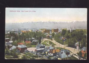 SALT LAKE CITY UTAH BIRDSEYE VIEW 1907 ANTIQUE VINTAGE POSTCARD