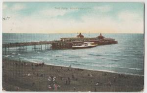 Dorset; The Pier, Bournemouth PPC 1909 PMK, To Mr Lovey, Bristol