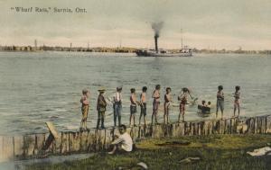 SARNIA , Ontario , 1907 ; Wharf Rats