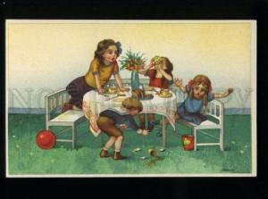 134566 TEA Time KIDS by BENDER Vintage COMIC Color NOVITAS PC