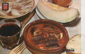 Postal 004247 : Iberia: Platos tipicos: anguilas con all i pebre